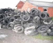 Récolte des pneus de type