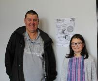 Monsieur Delcourt et sa fille, gagnants du CAWAE