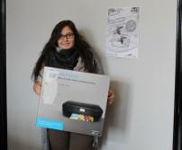 Mme Roquet, gagnante de chez Lion Informatique