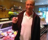 Monsieur Roger Petit, gagnant du lot des Boucherie