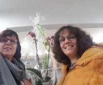 Mme Baiwir, gagnante du lot de l'Atelier des Fleur
