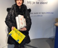 Madame Lenoir, gagnante du lot d'Ikea