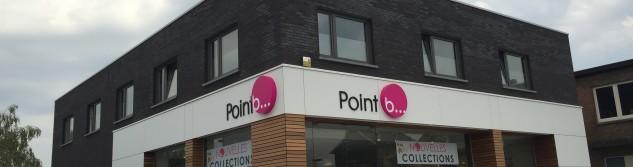 L'enseigne Point B fait peau neuve avec une façade très attrayante