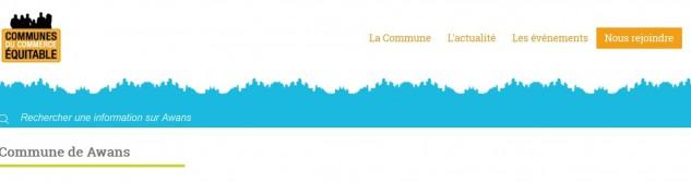 Commune du Commerce Equitable : Le projet awansois sur le site officiel