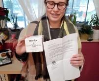 Mme Jurkiewiecz Maëlle, gagnante du lot de Da Tere