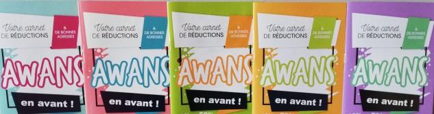 Retour du chéquier promotionnel « Awans en Avant »