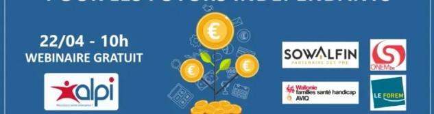 ALPI vous propose un webinaire sur les aides et financements pour les futurs indépendants